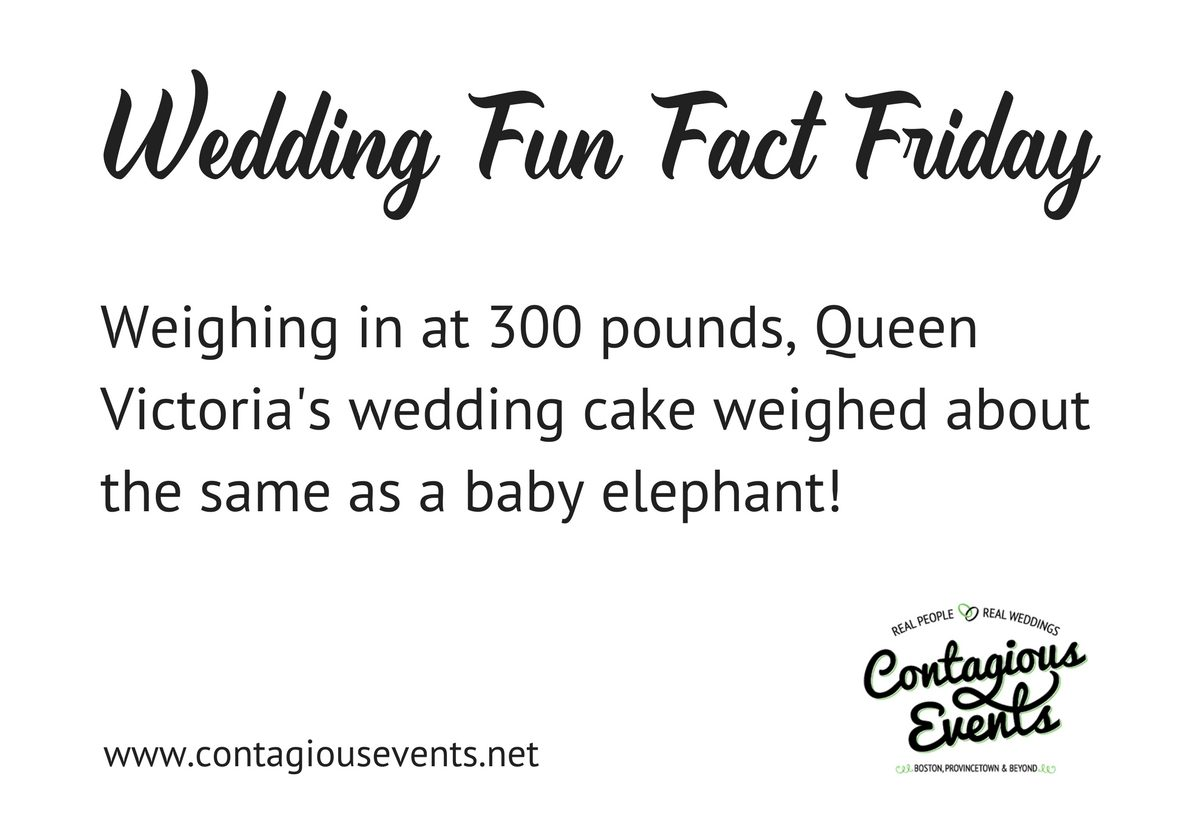 Wedding Fun Fact Blog: Queen Victoria's Wedding Cake Weighed 300 Pounds
