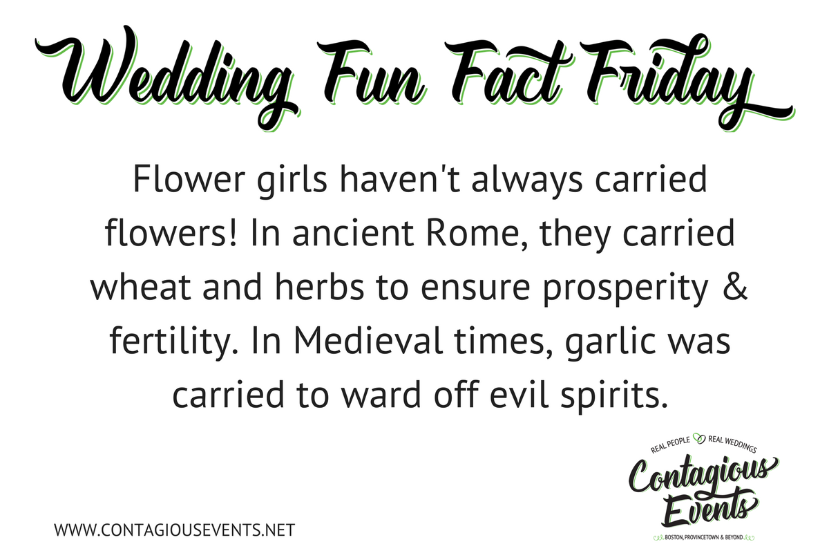 Flower girls used to carry herbs and garlic for good luck, prosperity and to ward off evil spirits.