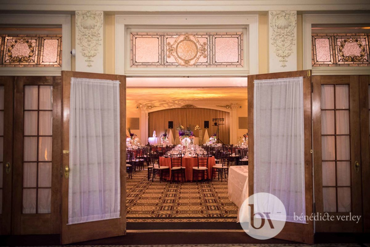 Doors Open to Ballroom Wedding Reception